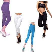Sports Yoga Stretch Short Leggings Under Knee Tights Skinny