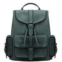 Yoins Green Backpack with Drawstring Design and Magnetic
