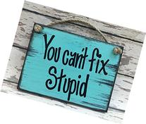 You CAN'T FIX STUPID 6X8 Reclaimed Wall HUMOR Sign