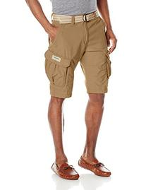Unionbay Young Men's Lewis 13 Inch Long Cargo Belted Short,