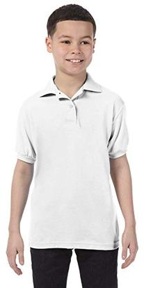 Hanes Youth 50/50 ComfortBlend EcoSmart Jersey Knit Polo,