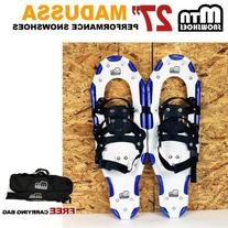 "New MTN Snowshoes Man Woman Kid Youth 27"" Blue Snowshoes"