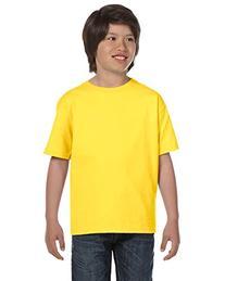 Hanes Youth 5.2 oz. ComfortSoft Cotton T-Shirt>L PURPLE 5480