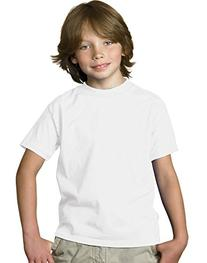 Hanes 5.2 oz Youth COMFORTSOFT HEAVYWEIGHT T-Shirt, S-White