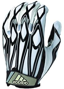 adidas Youth Filthy Quick Football Gloves, White/Black,