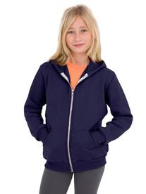 American Apparel Youth Flex Fleece Zip Hoodie  -NAVY -12