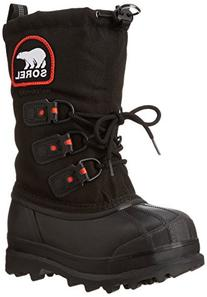 Sorel Youth Glacier XT Extreme Weather Boot ,Black/Red