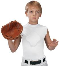 Markwort Youth Heart-Gard Protective Body Shirt, White,