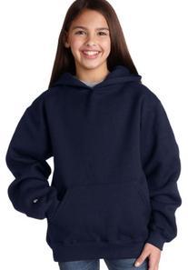 Badger Sportswear Youth Long-Sleeve Hooded Sweatshirt, Red,