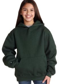 Badger Youth Hooded Sweatshirt - Forest Green - L