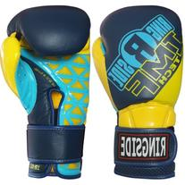 Ringside Youth IMF Tech Sparring Gloves, Navy/Yellow, 10-