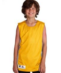 Badger Sportswear Youth Mesh-Dazzle Reversible Jersey, Gold/