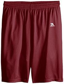 Russell Athletic Big Boys' Youth Mesh Short, Maroon, Large