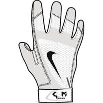 Nike Youth MVP Edge Baseball Batting Glove White/Bone/Pewter