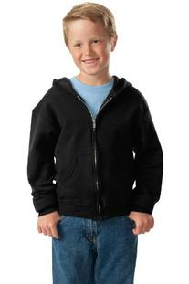 Jerzees Youth NuBlend® Hooded Full-Zip Sweatshirt - Black