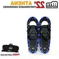 "New MTN 22"" Gold All Terrian Snowshoes + Black Nordic Pole"