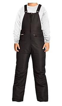 Arctix Insulated Youth Snow Bib Overalls, Black, Small