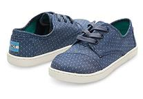 Toms Paseo Youth US 5 Blue Sneakers