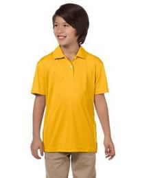 Harriton Youth 3.5 oz. Double Mesh Sport Shirt, M, Navy