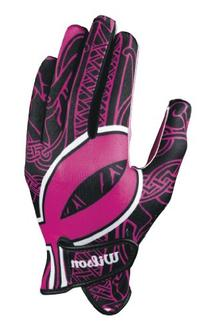 Wilson Youth Receiver Gloves with BCRF Ribbon