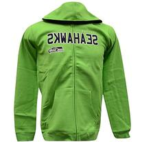 Youth Seattle Seahawks Green NFL Stated Full Zip Hoodie
