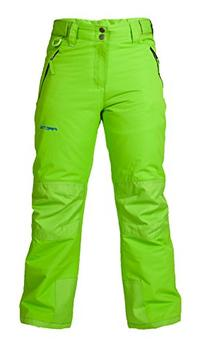 Arctix Youth Snow Pants with Reinforced Knees and Seat, Lime Green, Small