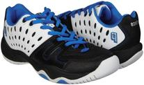 Prince Sports Youth T22 Tennis Shoe ,White/Black/Energy Blue