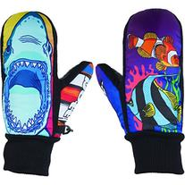 Neff Youth Undermitt Mittens Ocean Youth Sz S/M