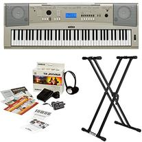 Yamaha YPG-235 76-Key Portable Grand Piano Keyboard Bundle