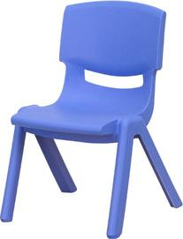 Flash Furniture Blue Plastic Stackable School Chair with 10.