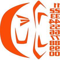Easton Z5 Series Decal Kit, Orange