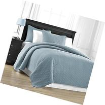 Zaria Quilted Coverlet Set With Stitched Pattern - 3 Pieces