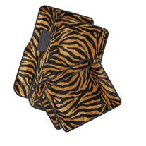 OxGord Zebra Floor Mats Orange & Black