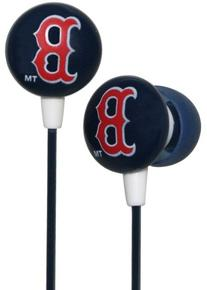 Zeikos iHip MLF10169BS MLB Boston Red Sox Printed Ear Buds,