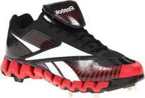 Reebok Men's Zig Cooperstown Low M Baseball Shoe,Black/White