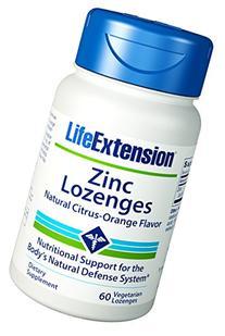 Life Extension Zinc Lozenges Supplement, 60 Count