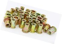 iExcell 50Pcs Zinc Plated Carbon Steel Rivet Nut Rivnut