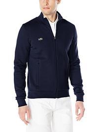 Lacoste Men's Sport Full Zip Brushed Fleece Sweatshirt, Navy