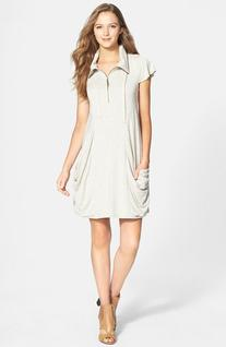 Women's kensie Zip Front Jersey Dress