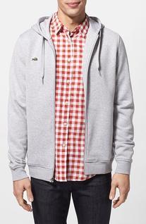 Men's Lacoste 'Sport' Zip Hoodie, Size 7 - Metallic