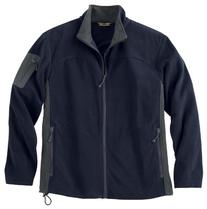 Men's Full Zip Microfleece Jacket, Color: Midnight Navy w/