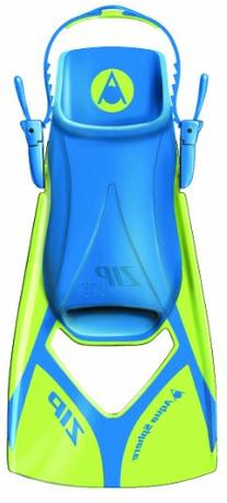 Aqua Sphere Zip VX Fitness Swim Fins, Lime/Blue, Medium