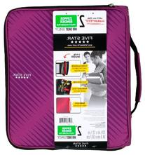 Five Star 2 Inch Zipper Binder, 3 Ring Binder, 6-Pocket