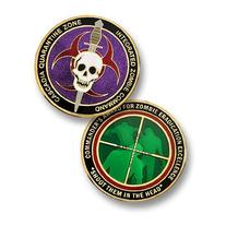 Zombie Challenge Coin - Cascadia Quarantine Zone Commander's