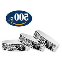 "WristCo Zombies 3/4"" Tyvek Wristbands - 500 Pack Paper"