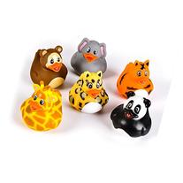 2-inch Zoo Animal Rubber Duckies