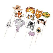 Zoo Animals Photo Booth Stick Props