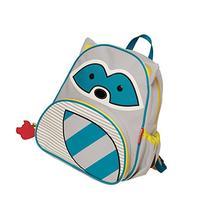 """Skip Hop Toddler Backpack, 12"""" Raccoon School Bag, Multi"""