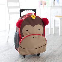 Skip Hop Zoo Kids Rolling Luggage - Monkey